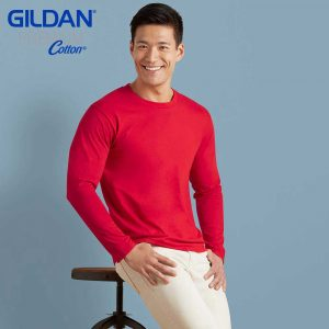 Gildan 76400 5.3oz Premium Cotton Long Sleeve T-Shirt