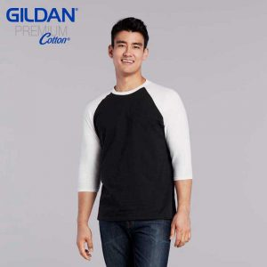 Gildan 76700 5.3oz Adult 3/4 Sleeve Raglan T-Shirt