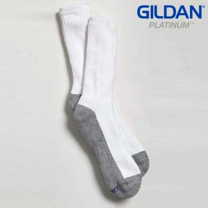 Gildan Platinum GP751 Men's Crew Socks White (6 Pair)